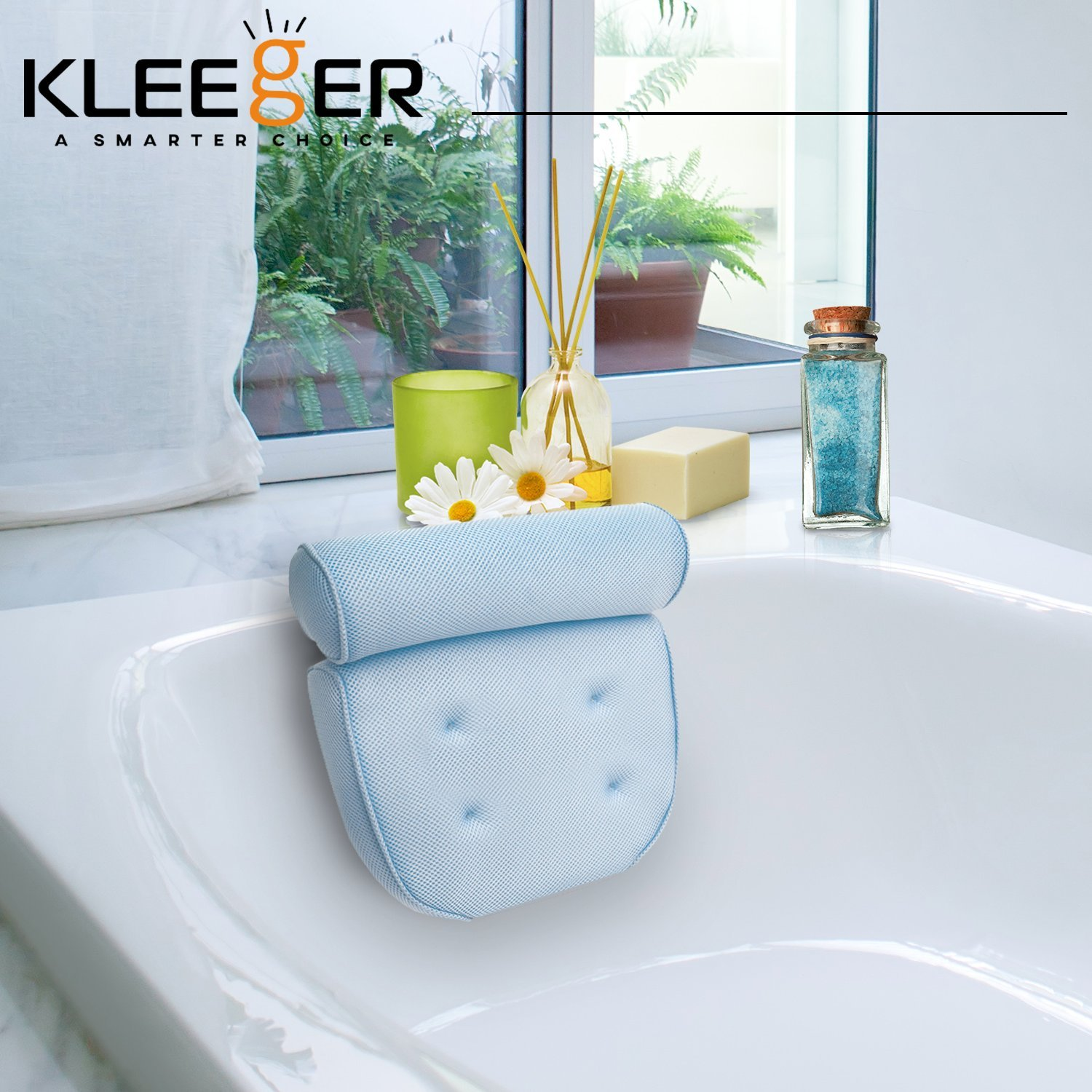 Amazon.com : Kleeger Non Slip Home Spa Jacuzzi Bath Pillow With Back ...