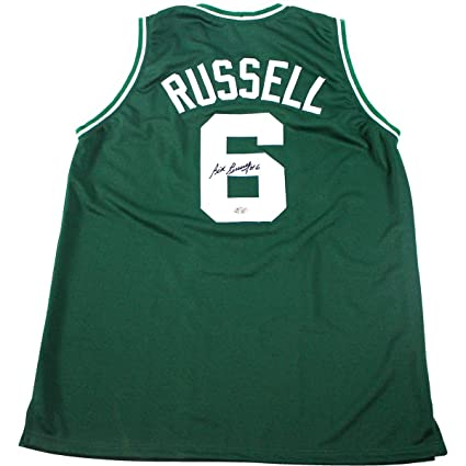 on sale 2b1bf 049ed Bill Russell Signed Green Boston Celtics Jersey (Hollywood ...