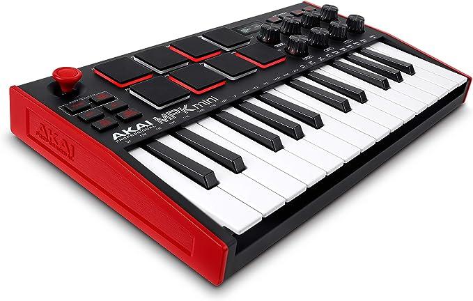 AKAI Professional MPK Mini MK3 - Teclado Controlador MIDI USB de 25 Teclas con 8 Drum Pads, 8 Perillas y Software de Producción Musical Incluido, ...