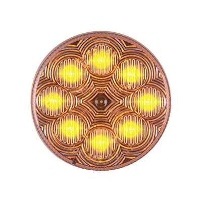 "Maxxima M16280YCL Amber 2.5"" Round LED Clearance Marker Light: Automotive"