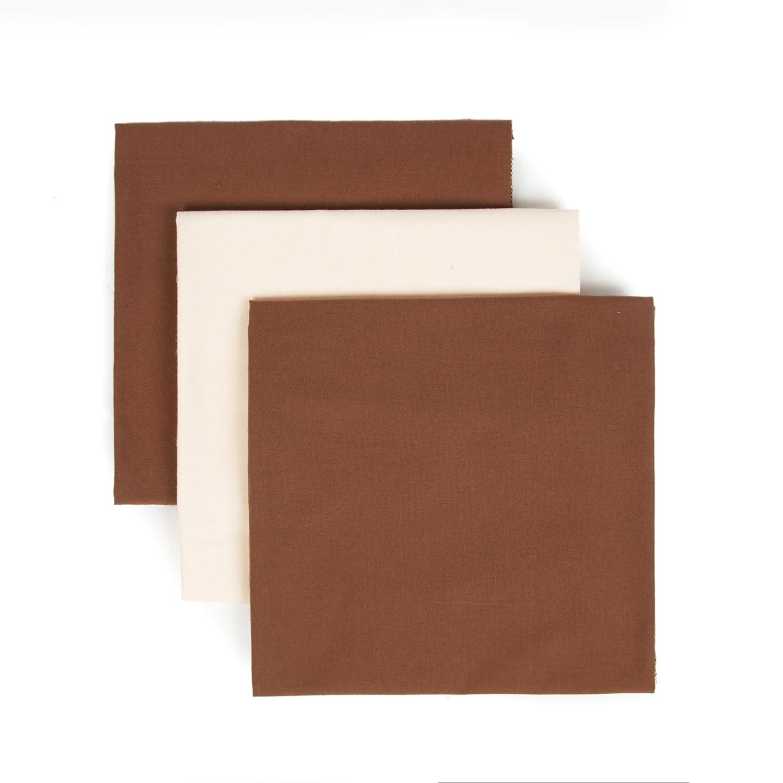 Tadpoles Organics Set of 3 Flannel Receiving Blankets Chocolate