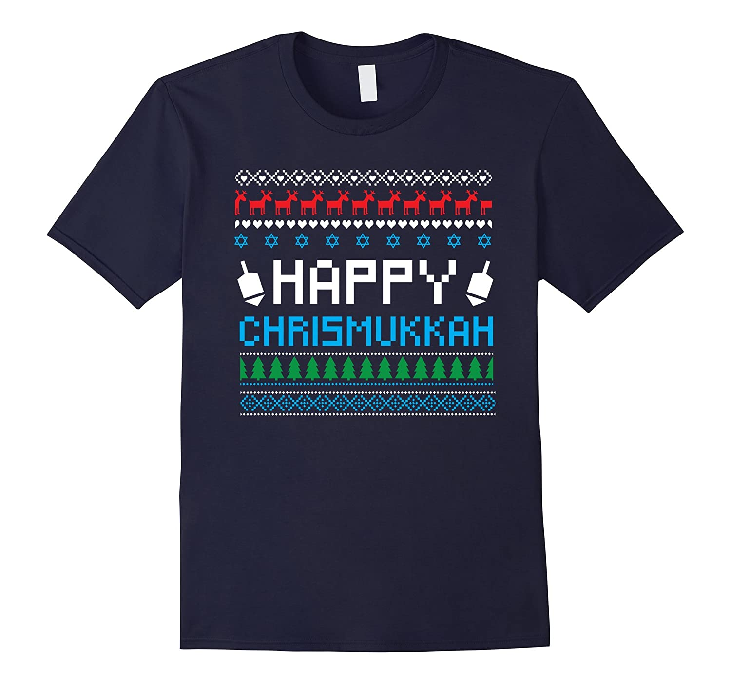 Happy Chrismukkah Ugly Christmas Sweater Style Funny Gift-ANZ
