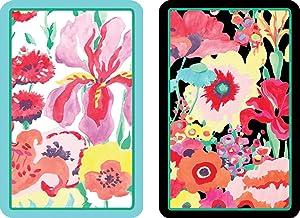 Entertaining with Caspari Double Deck of Bridge Playing Cards, Jumbo Type, Secret Garden