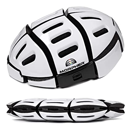 Amazon.com   Morpher Folding Helmet (Frosty White)   Sports   Outdoors 9aa6c99b0dbe4