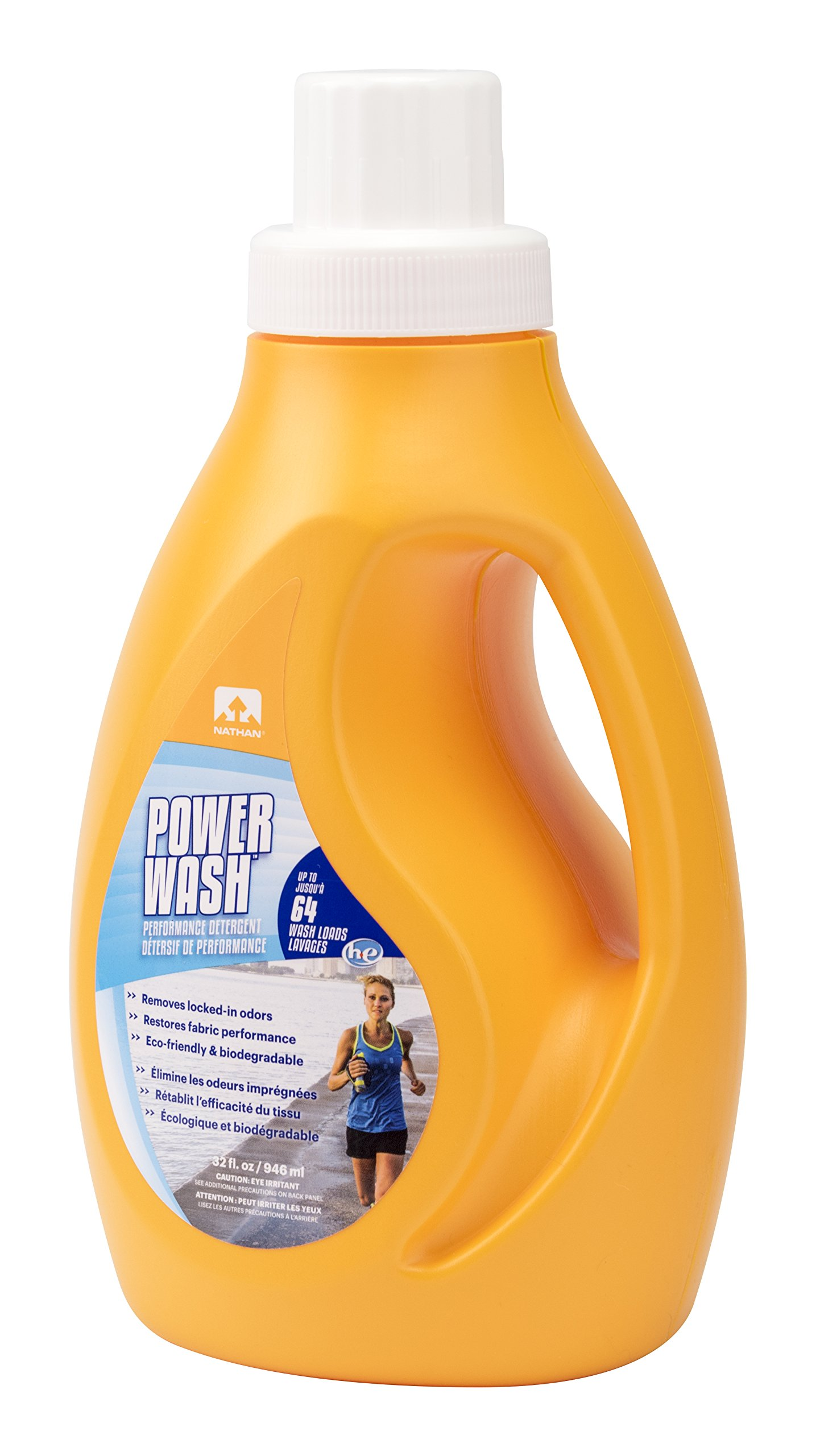 Nathan Sport Wash Laundry Detergent, Sport Detergent for Performance Athletic Wear, Natural & Eco-Friendly
