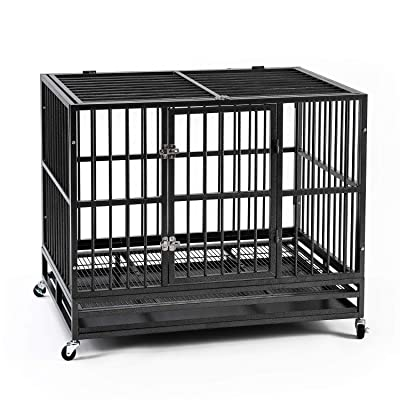 Ainfox 37/42/48inch Heavy Duty Metal Dog Crate