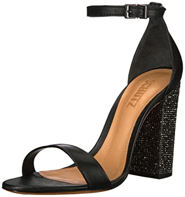 Schutz Woman Hara Crystal-embellished Leather Sandals Black Size 8 Schutz 8rM7KJo