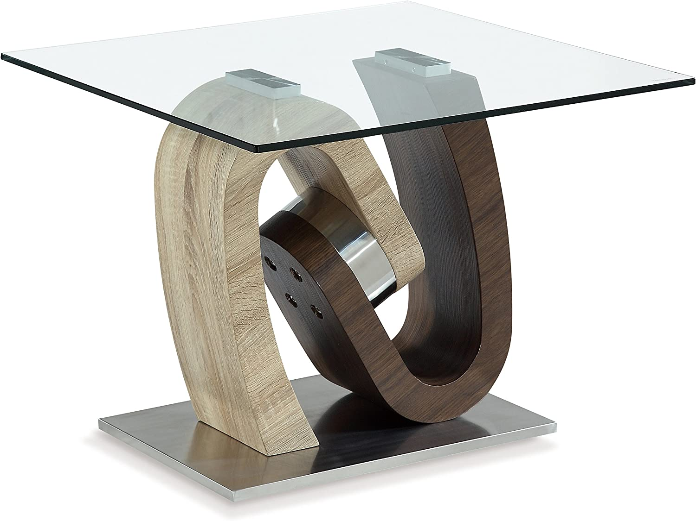 Global Furniture End Table, Walnut Oak