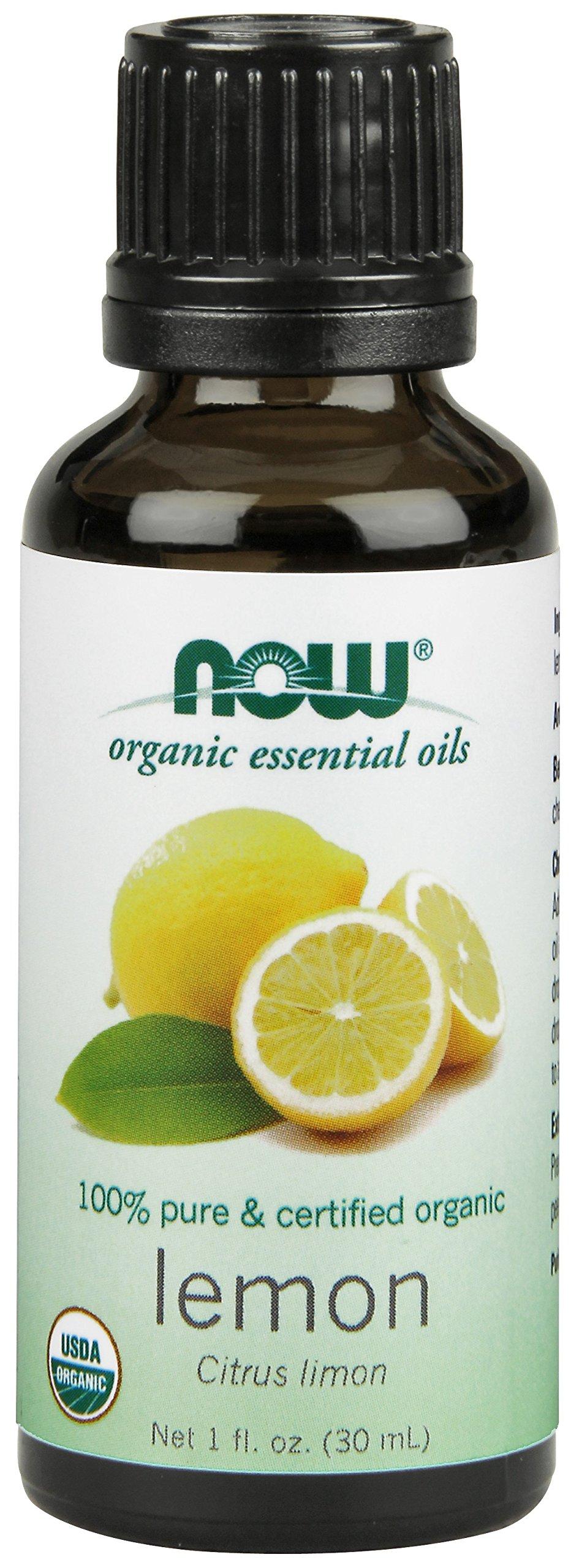 NOW Lemon Oil Organic 100% Pure, 1-Ounce