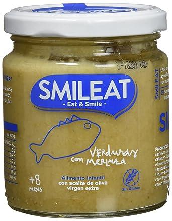 Smileat, Tarrito de pescado para bebé, (Verduras con merluza ...