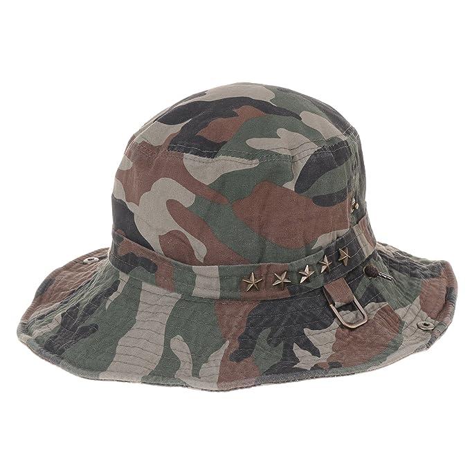 0809ccf5dd7 WITHMOONS Boonie Bush Hats Wide Brim Denim Camouflage Side Snap KR8190 ( Beige)  Amazon.com.au  Fashion