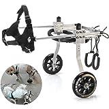 Anmas Sport Adjustable Dog Wheelchair for Small Dog,3-15 lbs dog,Behind leg Rehabilitation