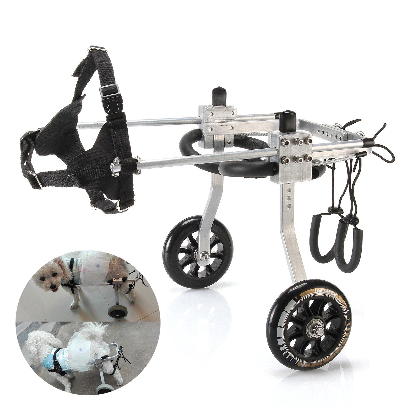 Anmas Home Adjustable Pet Dog Wheelchair for Back Leg Rehabilitaion