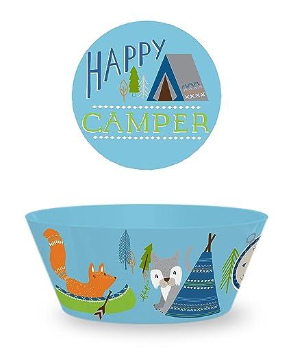 TarHong 4 Piece Happy C&er Polypropylene Dinnerware Set Multicolored  sc 1 st  Amazon.com & Amazon.com | TarHong 4 Piece Happy Camper Polypropylene Dinnerware ...