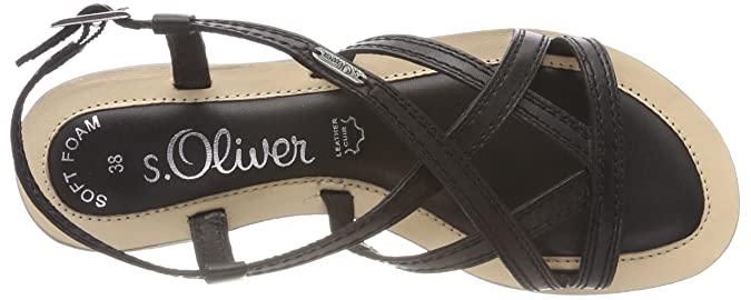 Schuhe Damen s.Oliver Damen 28120 Slingback Sandalen 5 28120