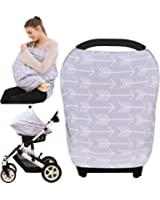 Baby Car Seat Cover canopy nursing and breastfeeding cover( classical arrows)