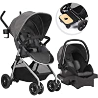 Evenflo Sibby Travel System With Infant Car Seat (Highline Gray)