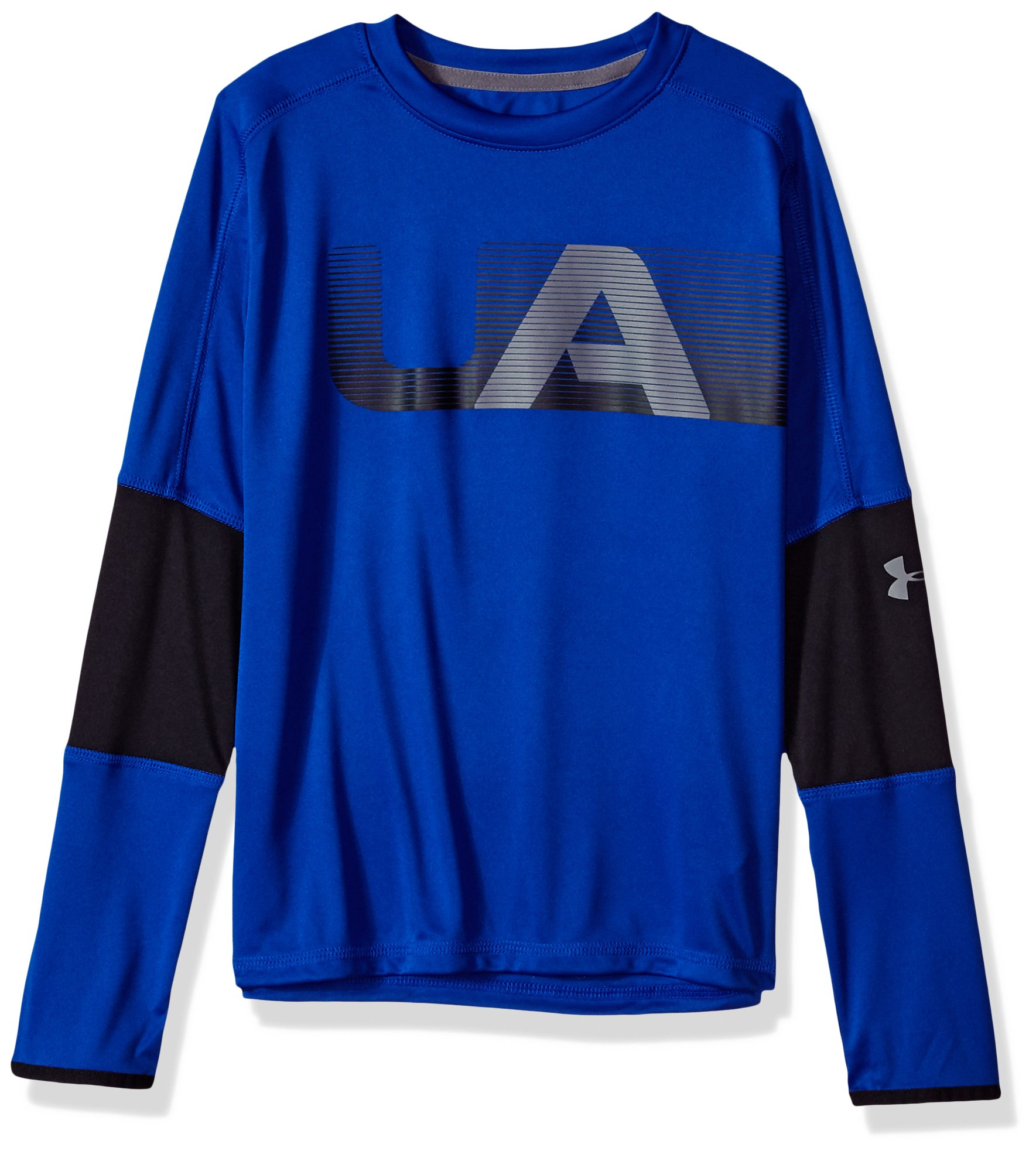 Under Armour Boys Tech Long sleeve Tee, Royal (400)/Graphite, Youth Medium by Under Armour