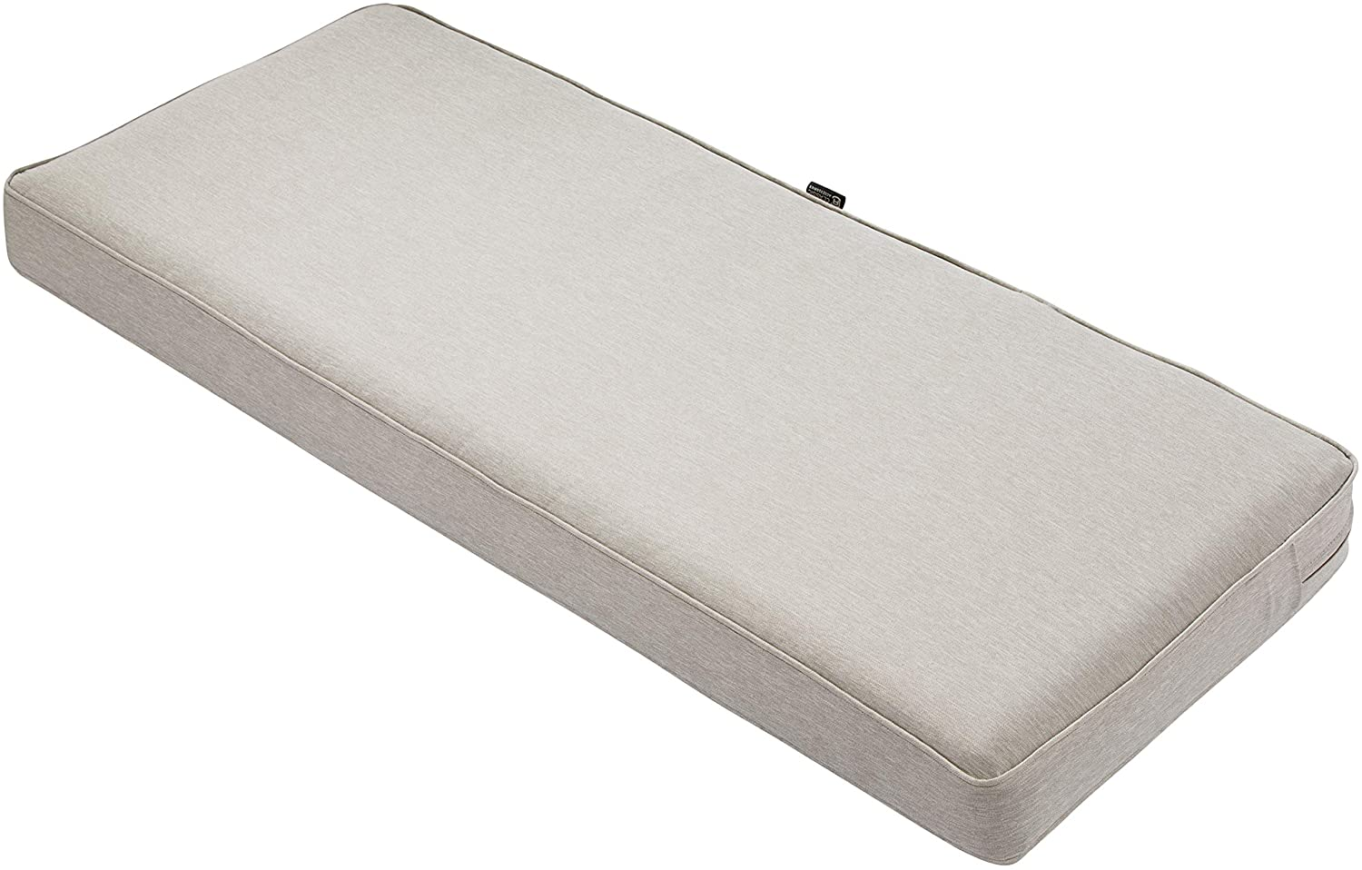 """Classic Accessories Montlake Bench Cushion Foam & Slip Cover, Heather Grey, 48x18x3"""" Thick"""