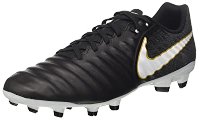 outlet store ee0ab 9049b Nike Men s Tiempo Ligera IV FG Football Shoes, Black (Black White-Black