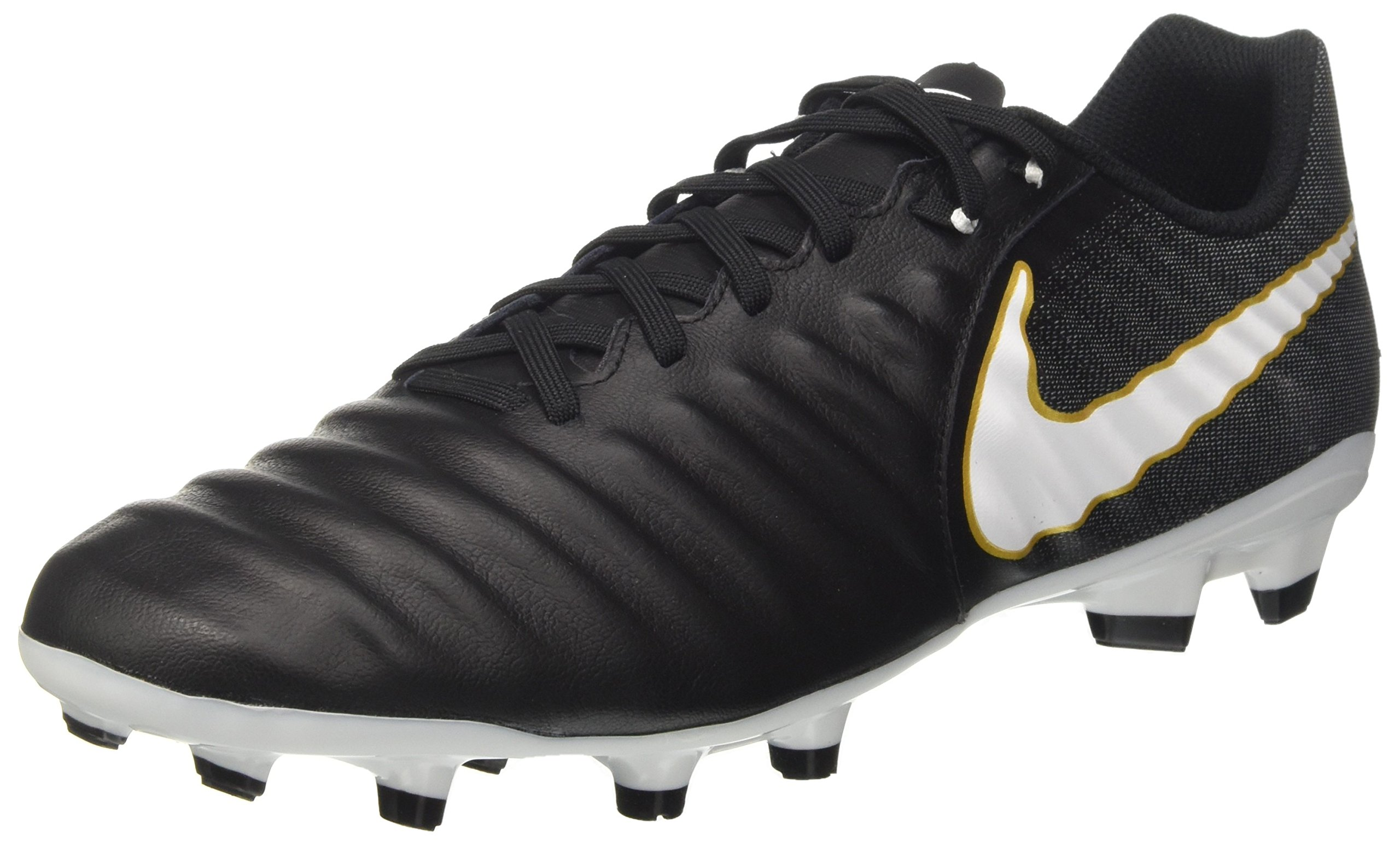 41a46c3de5d1b1 Galleon - Nike Men s Tiempo Ligera IV Leather Firm-Ground Soccer Cleats  (8.5 D(M) US) Black White