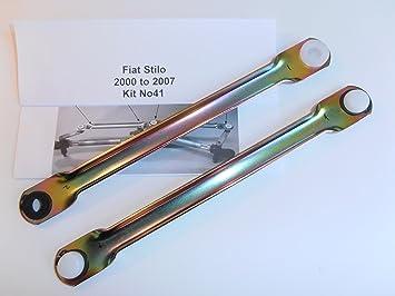 Set de varillas de empuje para acoplamiento de limpiaparabrisas para Fiat Stilo 2000-2007: Amazon.es: Coche y moto