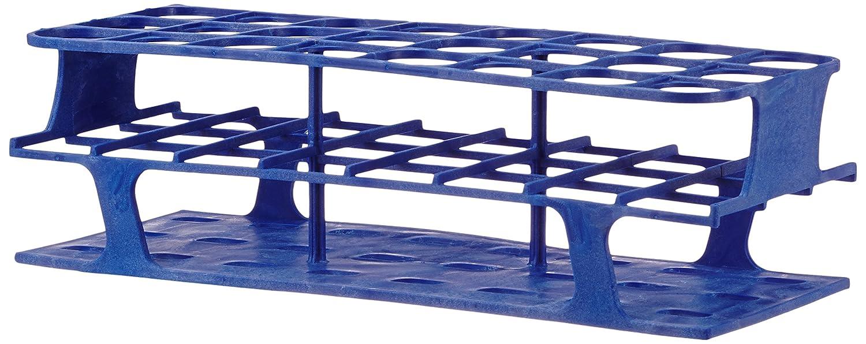 30 mm 110 mm Length x 282 mm Width x 85 mm Height Onerack Full Size Heathrow Scientific HD27515B Polyoxymethylene Test Tube Rack Blue HS27515B