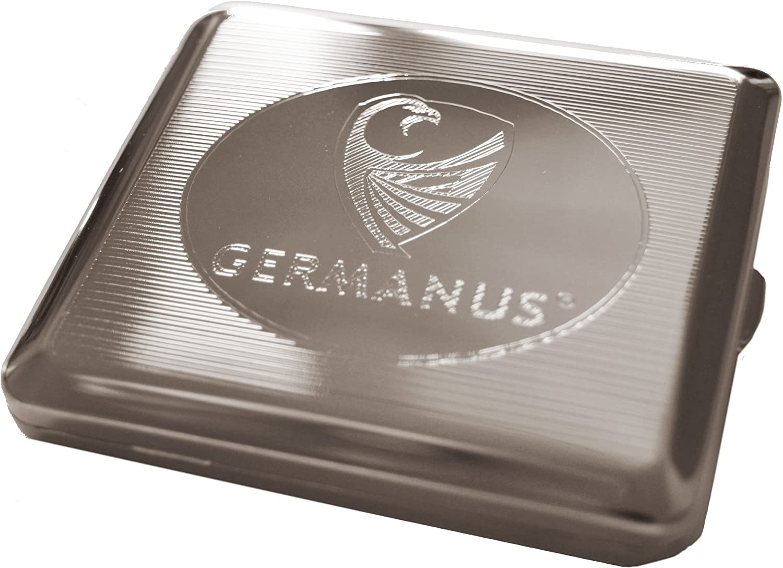 fabricado en Alemania GERMANUS n/íquel funda para cigarrillos