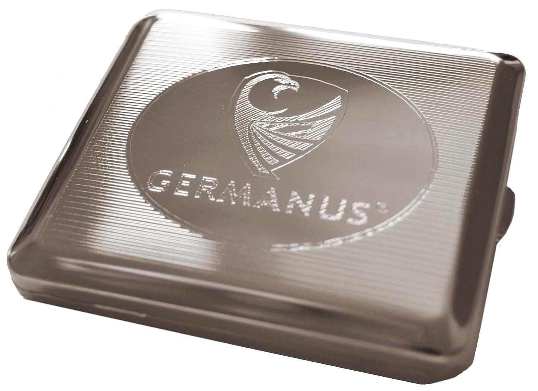 GERMANUS Zigarettenetui, Made in Germany, vernickelt
