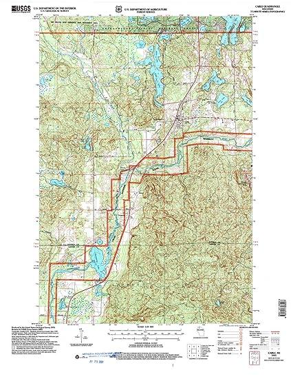 Amazon Com Yellowmaps Cable Wi Topo Map 1 24000 Scale 7 5 X 7 5