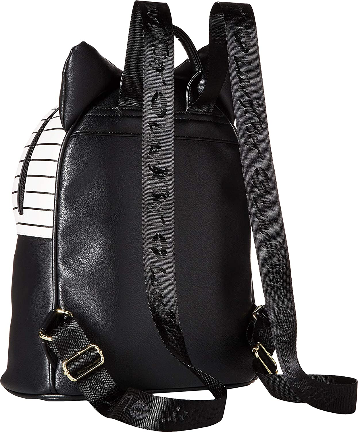 Luv Betsey LBMilla PVC Kitch Backpack w Cat Face 3D Ears Black One Size