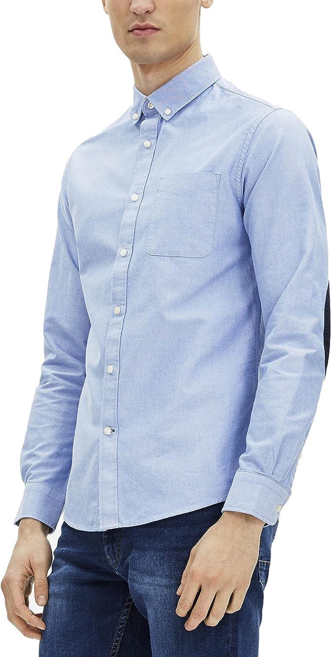 Celio GAELBOW, Camisa casual Hombre, azul (Bleu Ciel), 45-46 ...
