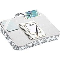 "LapGear Designer Lap Desk - Gray Damask (Fits up to 15"" Laptop),45424"