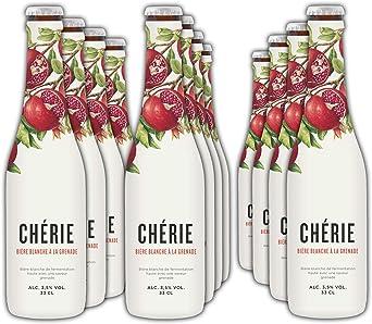 Chérie - Cerveza de Trigo con Sabor Granada - Pack 12 Unidades 33 cl: Amazon.es: Alimentación y bebidas