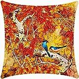 QINU KEONU Oil Painting Hundreds of Birds Cotton