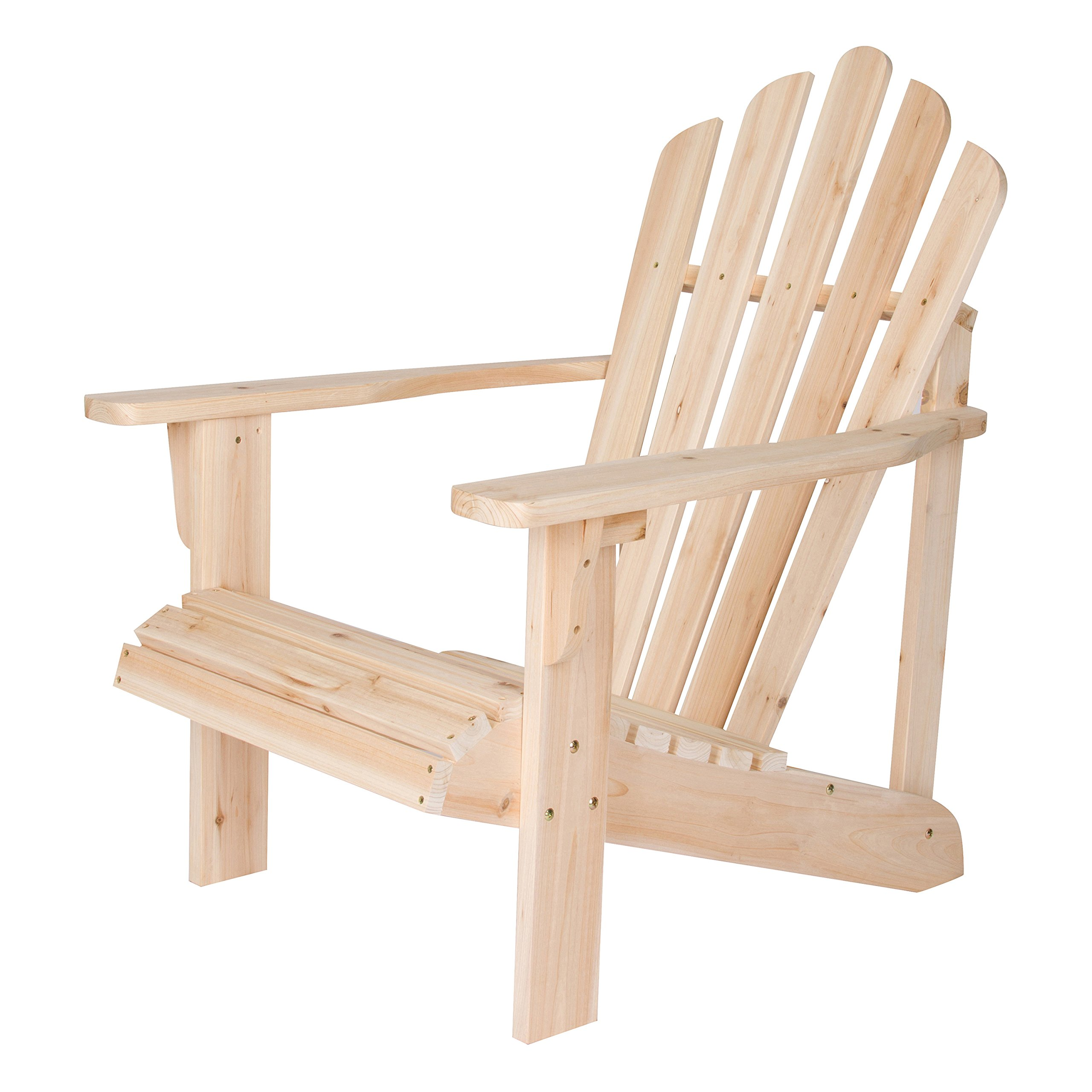 Shine Company Inc. 4611N Westport Adirondack Chair, Natural by Shine Company