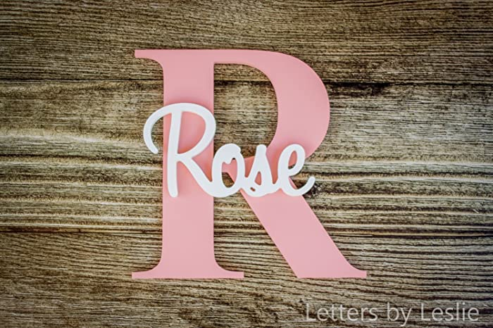 Amazon.com: Nursery Name Sign, Personalized Name, Name Art, Name ...