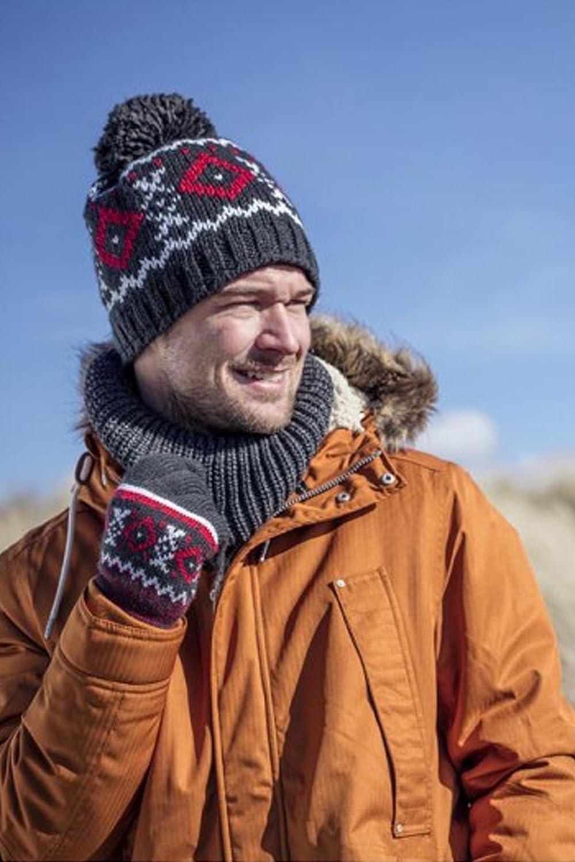 HEAT HOLDERS Hombre Invierno Termico Gorro con pomp/ón con Forro Polar