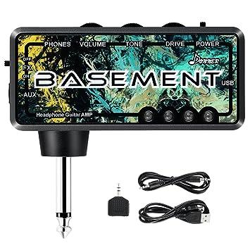 Donner Mini Auriculares AMP Basement Amplificador de Guitarra para Auriculares Compacto Portátil