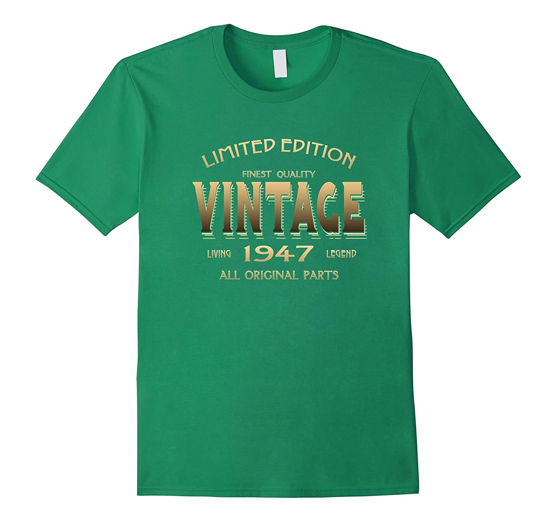 Vintage 1947 T Shirt 70th Birthday Gift 70 Year Old B Day Yr