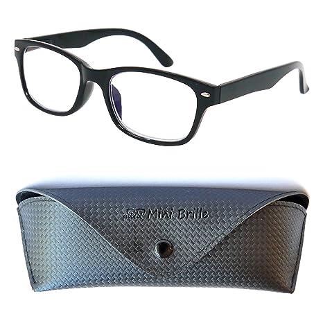 ffac2c72a3 Elegantes Gafas con Filtro de Luz Azul Unisex para Leer | Cristales  Transparentes que Bloquean la
