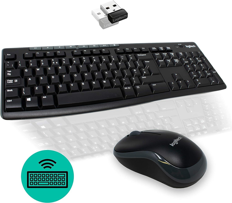I-CHOOSE LIMITED Teclado Inalámbrico y Juego de Mouse para Ordenador USB PC LOGITECH MK270: Amazon.es: Electrónica