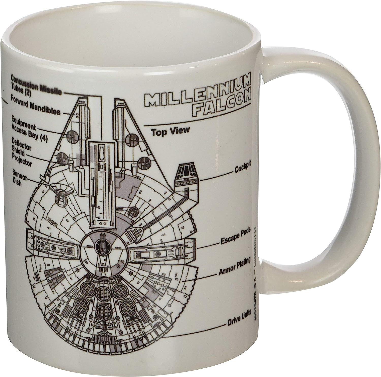 "Pyramid International ""Star Wars (Millennium Falcon Sketch)"" Official Boxed Ceramic Coffee/Tea Mug £3.45 @ Amazon"