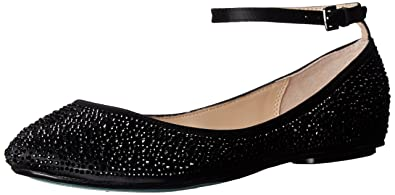 f8ca38aa08071 Blue by Betsey Johnson Women s Sb-Joy Ballet Flat Black Satin 6 ...