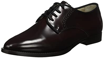 Marc O' Polo Lace Up Shoe 70714153401112, Brogue FemmeRougeRouge (Bordeaux)