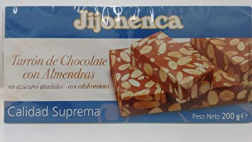 Jijonenca Turron De Chocolate Con Almendras - Chocolate with Almonds Turron