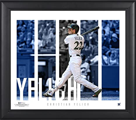 223d0c3d146 Christian Yelich Milwaukee Brewers Framed 15
