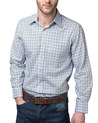 ae44bba1 Rydale Men's Classic Country Check Shirts Outdoor Work Long Sleeved ...