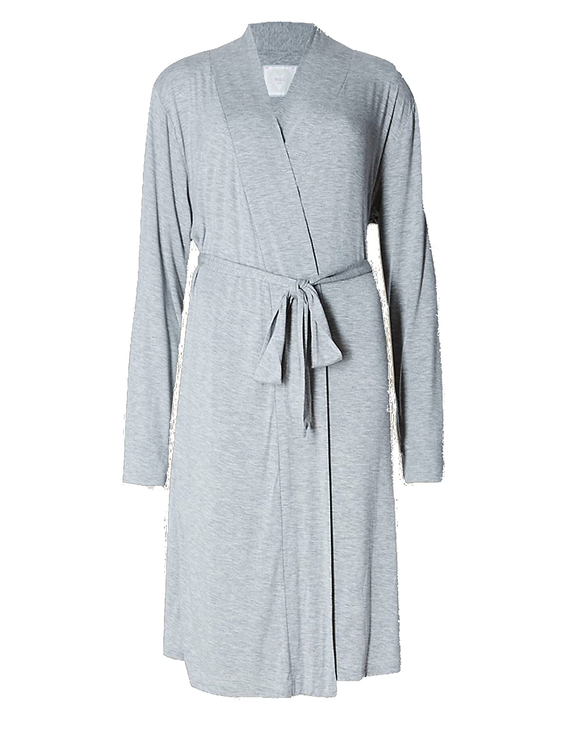 Marks and Spencer Womens Soft MARL Short Wrap Dressing Gown M&S ...