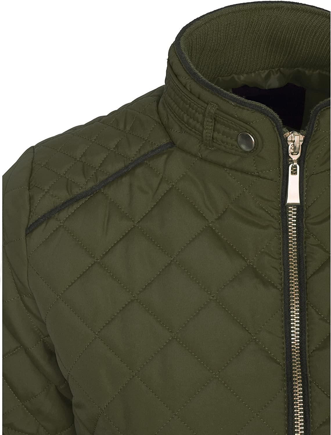 KOGMO Womens Quilted Fully Lined Lightweight Zip Up Jacket S-3X